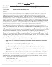 ARTICLE BRIEF 7