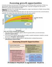 Assessing Growth Opportunities .. Product-Market Expansion Matrix.docx