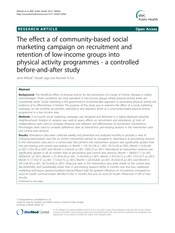 The effect a of community-based social marketing campaign on recruitment an..