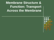 BZE F10 Lecture Membrane Functions Transport