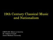 09 Musical nationalism