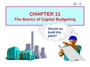W11 ffm911 The Basics of Capital Budgeting
