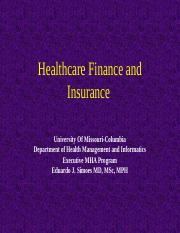 8544- 14- Healthcare Finance and Insurance