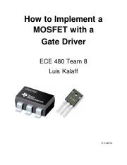 How to Implement a MOSFET with a Gate Driver-1