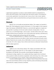ENTR 530_ Week 5_ Venture Capital Investment Recommendation_ Michael Smith.docx