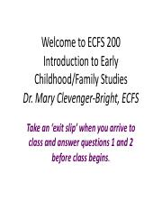 200.1 Intro to the Course & ECFS
