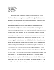 abortion paper 400