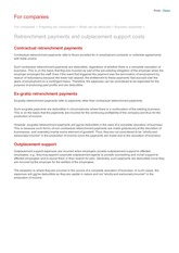 Retrenchment payments and outplacement support costs