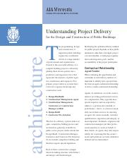 R2-Understanding project Delivery for Design & Contr of Public Buildings