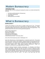 Chapter 12 - The Bureaucracy Notes.docx