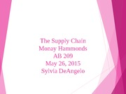 Monay Hammonds The Supply Chain