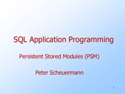 Lecture Persistent Stored Modules for Introduction to Database Systems