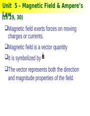 Unit5-MagneticField_Ampere_sLaw