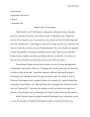 charlemagne essay matthewsorkin christophersiracusa  10 pages samplefinalessay