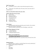 Causes Of Crime Study Guide-1