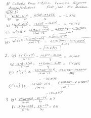 01A Calc Exam 1 Corrective answers and solutions