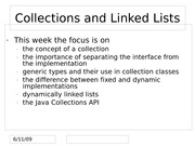 Collections and Linked Lists