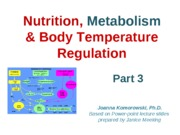 ANP 1107 Nutrition, Metabolism & Temperature Pt. 3
