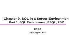 chap9-1-SQL in a Server-(ESQL,PSM)-(70pages)