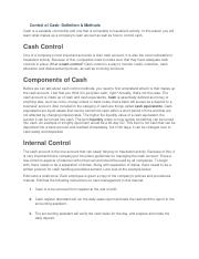 Control of Cash.docx
