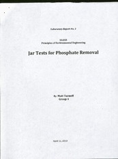 Lab Report No. 3: Jar Tests for Phosphate Removal