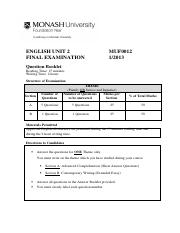 MUF0012 English Unit 2 Question Booklet 1-2013.pdf