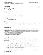 12t. The limping child (Addenbrooke's Hospital, 2009).doc