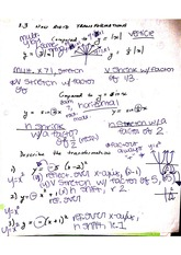 Transformation of Functions Notes