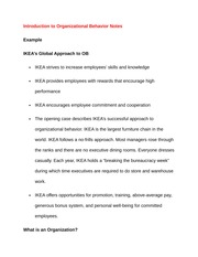 ikeas organizational behavior Ikea case analysis  its organizational culture is very  ikea need to aggressively focus on hispanic market because there are much more chances for ikeas.