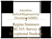 week 3 assignment ADHD