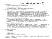 Lab Assignment 2