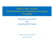 EEB C119A C219A - lecture 8 - Introduction to functions and ODEs