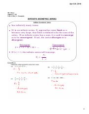 A2AB 11.6 Examples - infinite geo series