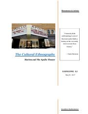 ENGLISH101 Cultural Ethnography