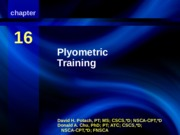 chapter 16 - Plyometric Training