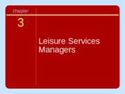 Leisure services management chapter 03