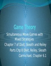 10. Simultaneous Games with Mixed Strategies2