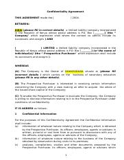 Agmts - Confidentiality Agreement (2).doc