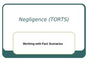 Negligence- Working with fact scenarios
