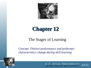 Chapter 12 - The Stages of Learning