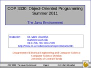 The Java Environment (3)