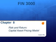 Chapter 8 Risk and Return:  Capital Asset Pricing Model