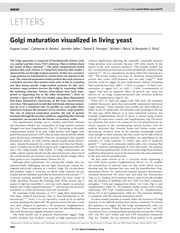 Golgi Maturation in Living Yeast copy