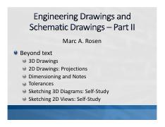 Lecture 14 (Engineering Drawings and Schematic Drawings - Part II)