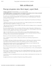 07-16-12 The Australian Energy programs miss their target, report finds
