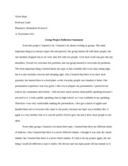 Group Project Reflective Statement