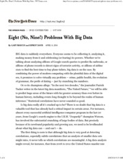 2014 - Eight- no nine - Problems with Big Data (1)