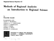 Method of Regional Analysis_an Introduction to Regional Science