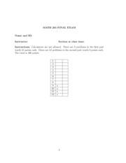 Purdue Linear Algebra Final