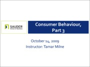 Oct 14 - Consumer Behaviour, Part III